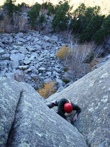 Rock Climbing Photo: Allen standing tall and taking it like any good so...