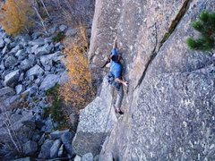 Rock Climbing Photo: 2ME once again engaged in crux activities on Somew...