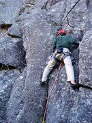 Rock Climbing Photo: Allen Ange at the first bolt on Dog Days of Summer...