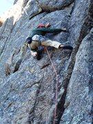 Rock Climbing Photo: The move!