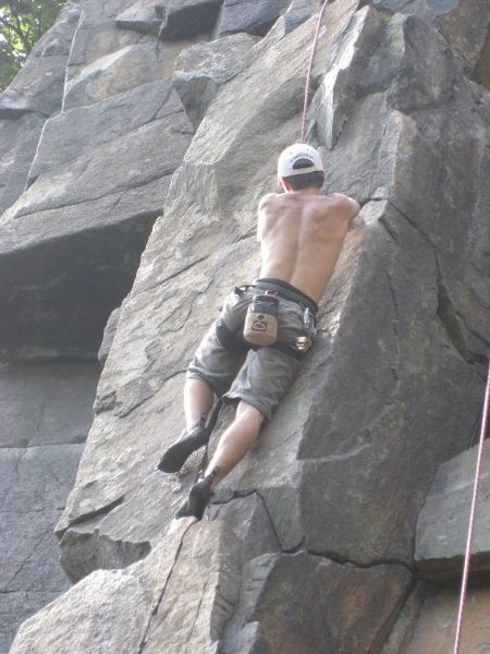 Rock Climbing Photo: me in mid summer on the column direct