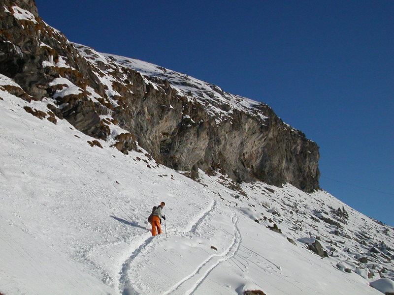The approach in winter
