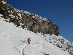 Rock Climbing Photo: The approach in winter