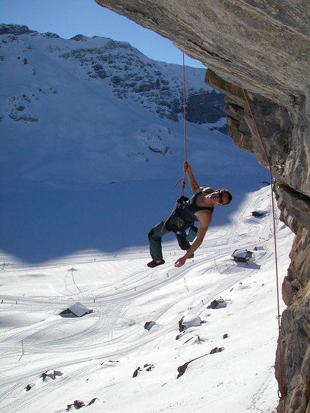 Rock Climbing Photo: Lowering off of Späckrösti, a superb 6a.