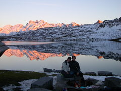 Rock Climbing Photo: A great fire pit near the shore of the Melchsee.