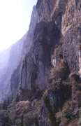 Rock Climbing Photo: The escarpment, with Silent Buttress in the center...