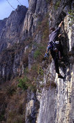 Rock Climbing Photo: Wang Zhiming topping out on Happy New Year.