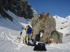 Rock Climbing Photo: A fantastic spot to bivy, very worthwhile given th...