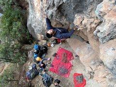 Rock Climbing Photo: Wang Zhiming cruising Nina at the south (upstream)...