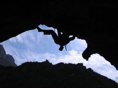 Rock Climbing Photo: Liu Xinan, Swallow's Flight.