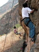 Rock Climbing Photo: Plenty of room for a top roping party at Just Go W...