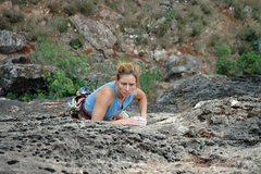 Rock Climbing Photo: Renee Mullen enjoying the wonderfully featured roc...