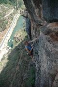 Rock Climbing Photo: Renee topping out on Imminent Monsoon.