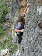 Rock Climbing Photo: Moseley on Mu x 2.