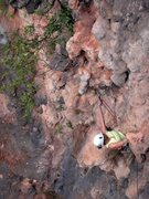 Rock Climbing Photo: Renee pulling the steep lower section of Ton Sai D...