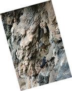 Rock Climbing Photo: Renee Mullen starting to snake around the stalacti...