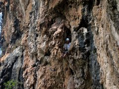 Rock Climbing Photo: Kelly Stover demonstrates why Cobra, which is over...