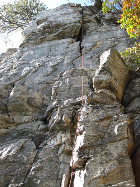 The obvious crack is Grandpa's Belay.