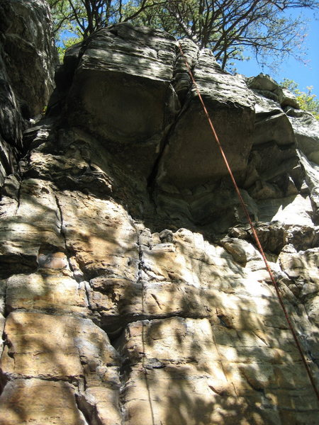 Rock Climbing Photo: The obvious roof with a splitter through it.