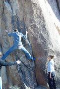 "Rock Climbing Photo: Jake climbing in the ""Crack Alley"".  Pho..."