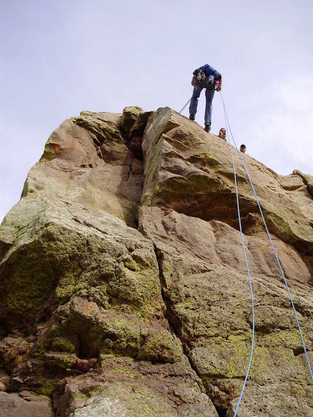 Rock Climbing Photo: Just south of the descent gulley