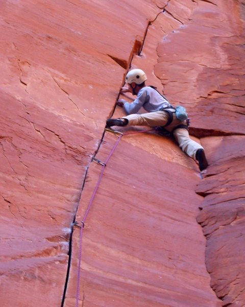 Rock Climbing Photo: Mike Sokoloff gets the test piece