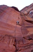 Rock Climbing Photo: finger and stemming testpiece