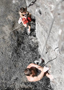 Rock Climbing Photo: The main wall boulder from above.