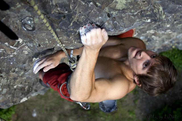 Curtis on Crag Coordinator (5.9)