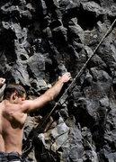 Rock Climbing Photo: Jesse on the start of Crag Coordinator (5.9)