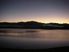 Rock Climbing Photo: Grand Lake morning fog