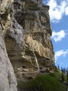 Rock Climbing Photo: Cheselenflue - with the steep Chaltbach sector on ...