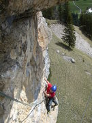 Rock Climbing Photo: Pitch two - Daniele H coming up to the anchor.