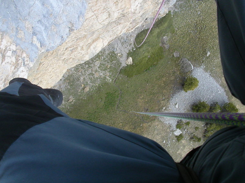 The way down...