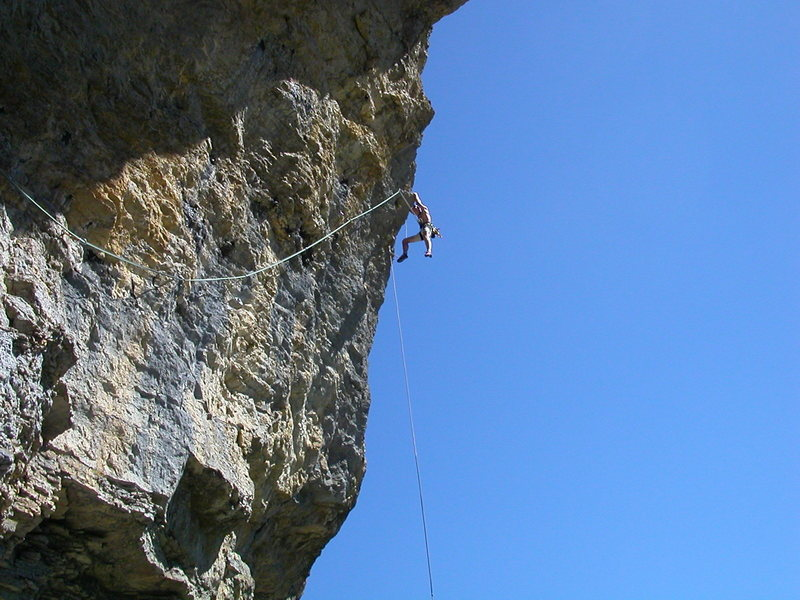 Rock Climbing Photo: Mathijs K concluding the magnificent third pitch.