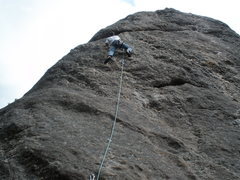 Rock Climbing Photo: Me on Way Cool Junior, my 2nd outdoor lead