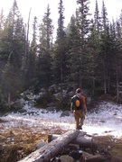 Rock Climbing Photo: Snow trail
