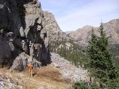 Rock Climbing Photo: Chris circling the base