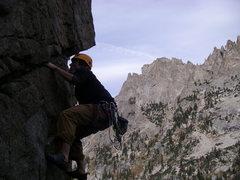 Rock Climbing Photo: Chris finishing lower jug section
