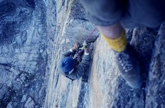 Rock Climbing Photo: Cleaning gear on D7. Photo Buc Taylor.