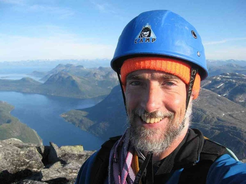 Rock Climbing Photo: Self-portrait on Stetinden Summit. I was the only ...