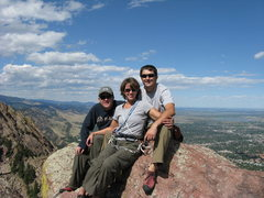 Rock Climbing Photo: Mike, Deb & Barry atop the Third Flatiron