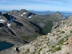 Rock Climbing Photo: View from the scree slope just below Hall's Fortop...