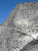 Rock Climbing Photo: The South Pillar Route of Stetinden. Most parties ...