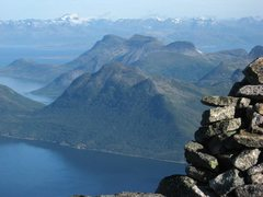 Rock Climbing Photo: Another view from beside the summit cairn, looking...