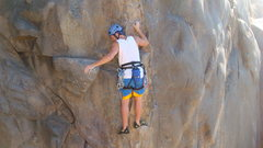 Rock Climbing Photo: leading at Mission Gorge, San Diego