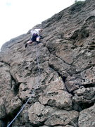 Rock Climbing Photo: Leading up Ow Now