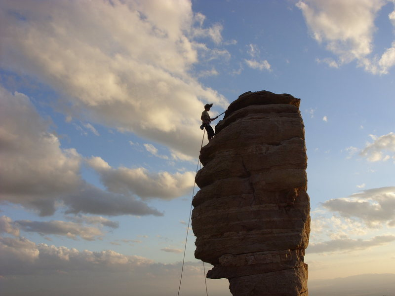 Rock Climbing Photo: Guess this is why it's called windy point.