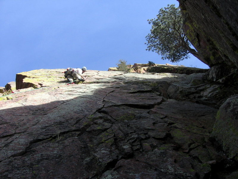 Rock Climbing Photo: Lenny Miller sends the crux moves of Cromagnon. Th...