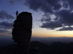 Rock Climbing Photo: Gotta love the tucson sunsets. pic by chelsea
